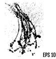 black paint ink splash brushes ink droplets blots vector image vector image