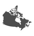 blank similar canada map isolated on white backgro vector image