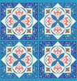 blue ornamental tiles background vector image vector image