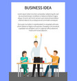 business idea poster and text vector image