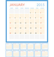 Calendar 2015 flat design template Set of 12 vector image