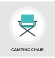 Camping chair Flat Icon vector image vector image