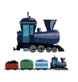 cartoon train a railway vector image vector image