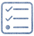 checklist fabric textured icon vector image vector image