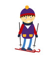 christmas boy playing winter game happy leisure vector image
