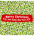 christmas greeting card with holly plant vector image vector image