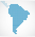 continent south america blue dotted map vector image