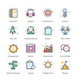 crowdfunding icons pack vector image vector image
