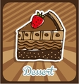 delicious dessert vector image vector image