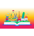 dreaming of europe - line travel vector image vector image