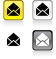 e-mail button vector image vector image