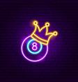 eight ball neon sign vector image vector image