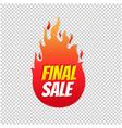 final sale label transparent background vector image vector image