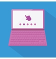 Flat styled laptop vector image vector image