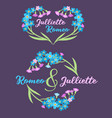 forget me not bouquet vector image vector image