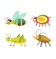 friendly wasp ridiculous beetle vigorous vector image vector image