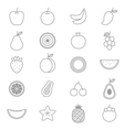 Fruit Icons Line Set vector image vector image