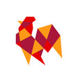 geometric rooster colorful logo icon vector image vector image