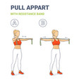girl doing pull appart home workout exercise vector image