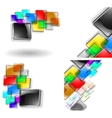 glass abstracts vector image vector image