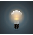 Glowing bulb on dark background vector image