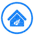 grain warehouse rounded grainy icon vector image vector image