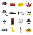 Great Britain icons set flat style vector image vector image