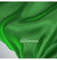 Green silk fabric vector image vector image