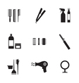 Hairdressing Icons Set 9 vector image