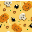 halloween pizza seamless vector image vector image