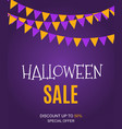 halloween sate poster background template vector image vector image