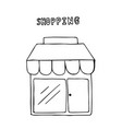 hand drawn shop shopping concept vector image vector image