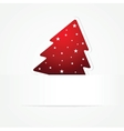 Holiday banner with striped christmas tree vector image