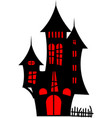 house in the style of halloween vector image vector image