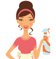 Housewife cleaning vector image vector image