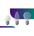 incandescent light bulb set vector image vector image