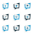 interface icons colored set with stabilizer vector image vector image