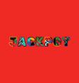 jackpot concept word art vector image