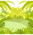 Jungle Flat Background2 vector image vector image