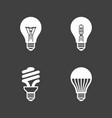 light bulb icons standard halogen incandescent vector image