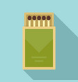match box icon flat style vector image vector image