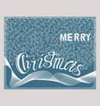 merry christmas handwritten lettering card vector image vector image