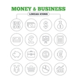 Money and business icon Cash money vector image vector image