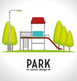 Park games graphic vector image