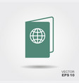 passport icon in flat style vector image