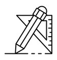 pencil angle ruler icon outline style vector image vector image