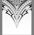 polynesian ornaments for decorative prints vector image vector image
