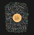 positive lettering card handdrawn vector image vector image