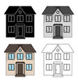 private cottagerealtor single icon in cartoon vector image vector image
