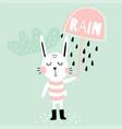 rain bunny vector image